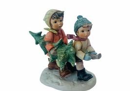 Goebel Berta Hummel Figurine Christmas Tree Trimming time BH12 decor gif... - $74.25