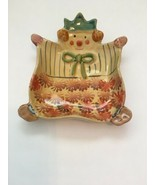 "Clown Whimsical Retro Decor Pottery Hand Painted Made in Italy 6"" x 4 1/2"" - $21.77"