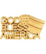 """10K or 14K Gold """"God Bless America"""" Lapel Pin - $195.99+"""
