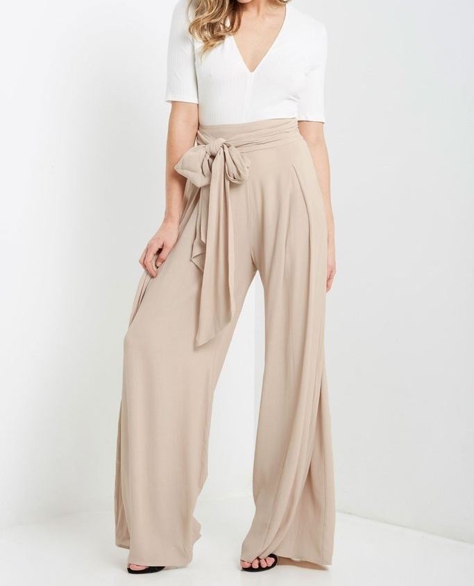 Womens Palazzo Pants / Palazzo Pants for Women / Wide Leg Womens Pants / Tan