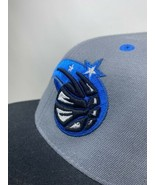 Orlando Magic Adidas 6 7/8 - 7 1/4 Fitted Hat NBA Black Gray  - $9.20