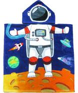 Astronaut Hooded Beach Poncho Towel Kids Bath Costume Cotton Pool Cover ... - $17.99