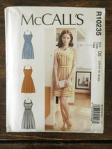 New Uncut MCCALLS Easy Pattern D5 R10235 Misses Sexy Pinup DRESSES US Si... - $4.85
