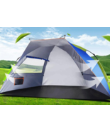 3-4 Person Double Layer Outdoor Automatic Instant Pop Up Waterproof Camp... - $68.10