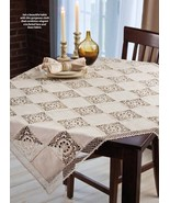 Linen lace tablecloth thumbtall