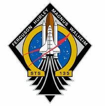 STS-135 Nasa Atlantis Sticker M565 Space Program - $1.45+