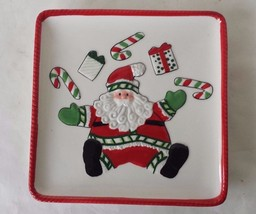 Square Fitz and Floyd Santa Claus Tray Stocking Stuffer Hors d'oeuvre 6 ... - $15.83