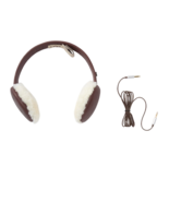 UGG Wired Earmuffs Curly Shearling Cordovan Leather New - $84.15