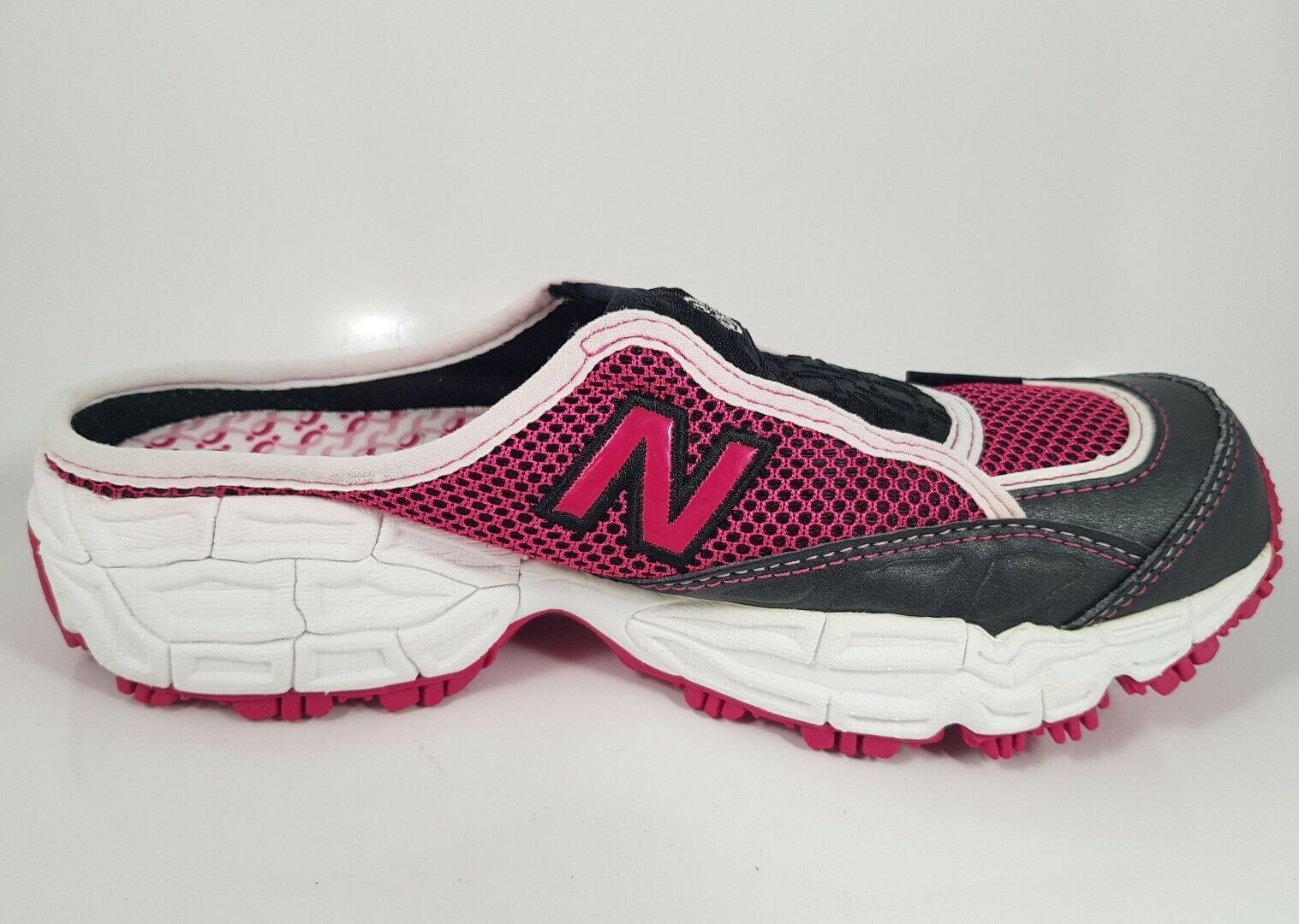 NIB NEW BALANCE W801PR GRAY PINK LEATHER MESH SANDALS SLIDE SNEAKERS B MEDIUM