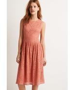 Soft Rose Crochet Pleated Sheath Midi Dress Lined Zipper Back. New - XS - $19.00