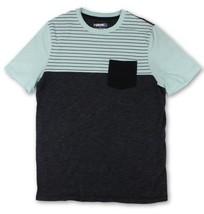 Hawk Mens Size Small Multi-Color Striped S/S T-Shirt Color Block Front Pocket - $12.86