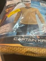 Star Trek Movie Captain Kirk Trekker Trekkie Gold Shirt Adult Costume New - €16,59 EUR