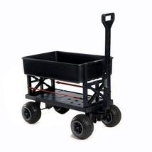 Garden Utility Cart Black Durable Heavy Load Storage Weatherproof Functi... - $127.71