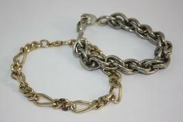 Bracelet Lot Mens Sperry and Other Goldtone Silvertone Vintage  - $9.85