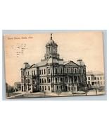 Vintage 1908 German Made Postcard Courthouse Cadiz Ohio - $15.81