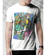 New Inner ninja turtles T Shirt Men White - $15.20+