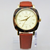New Fossil ES4281 Idealist Square Dial Brown Leather Strap Women Watch - $133.65