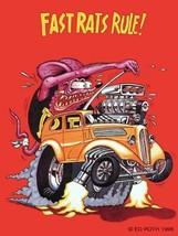 Fast Rats Rule! Rat Fink Monster Big Daddy Ed Roth Metal Sign - $29.95