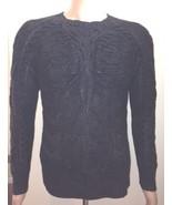 Ralph Lauren Herren schwarze Beschriftung handgestrickt Leinen Pulli Grö... - $421.49