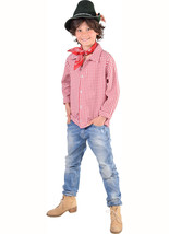 Kids CHECKED Red/White Shirt - Western / Austrian - $22.91