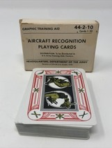 1979 Aircraft Recognition Playing Cards Graphic Training Aid 44-2-6 Cards   - $18.69
