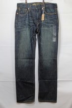 NEW Men's AE Slim Straight Jeans Dark Indigo Wash AEO 33 x 32 AEO  - $24.94