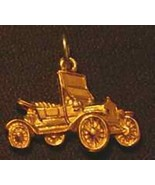 NICE Gold Plated Car Charm Jewelry Ford model T Silver .925 - $13.53