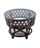 Natural Handmade Rattan Wicker Coffee Table Roosevelt w/Cushion - $220.99