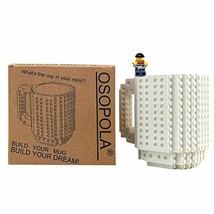OSOPOLA Build-On Brick Mug Building Blocks Coffee Cup Creative DIY Party... - $17.76