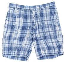 "Ralph Lauren Polo Men's 9"" Blue White India Madras Plaid Shorts Indigo Multi 38 - $79.99"
