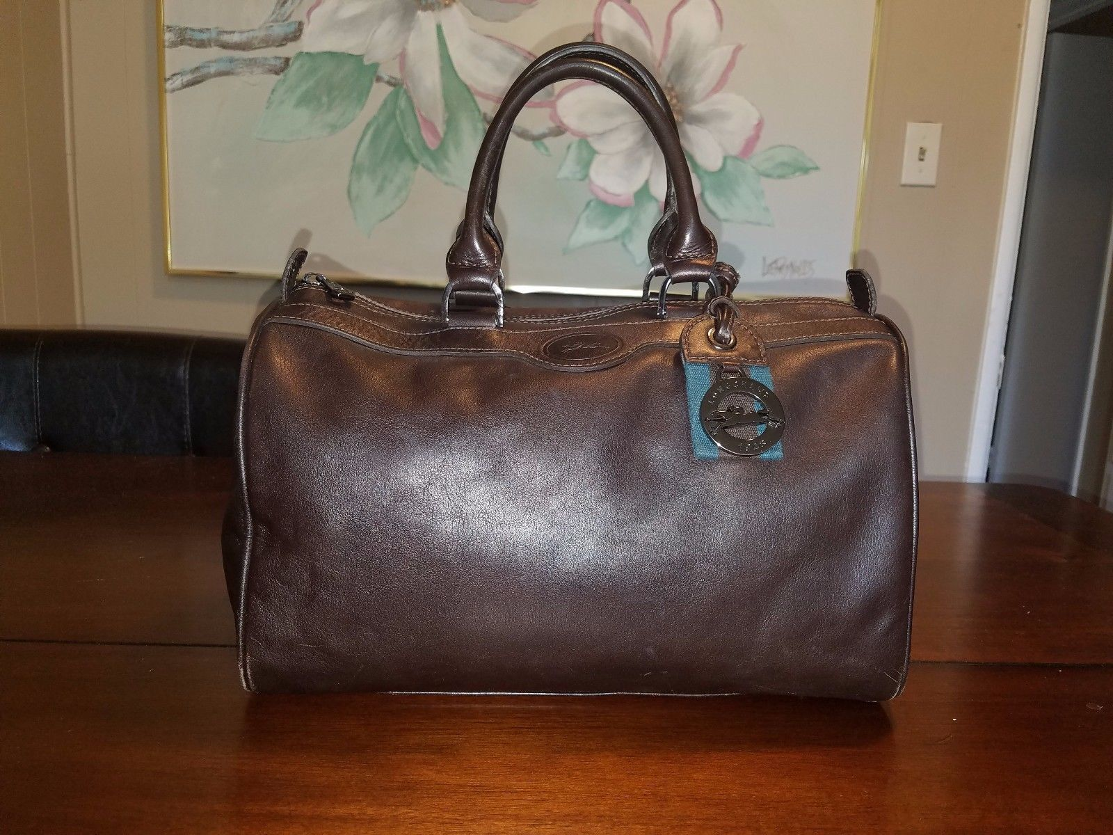 56ea1ca473b2 Longchamp Au Sultan Plum Purple Leather and 50 similar items