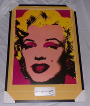 "Andy Warhol Signed Framed 28x41"" Marilyn Monroe Poster Display - $1,931.49"