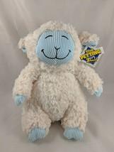 "The Petting Zoo Lamb Sheep Plush Cream Blue Ribbed 10"" Stuffed Animal - $18.06"