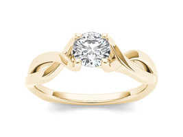 IGI Certified 14K Yellow Gold 0.50 Ct Natural Diamond Solitaire Engageme... - $824.49