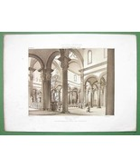 ARCHITECTURE SEPIA PRINT : Italy Church of San Spirito in Florence Interior - $21.60