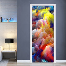 jiadou Modern 3D Color Clouds Abstract Art Wall Painting PVC Living Room Wallpap - $37.95