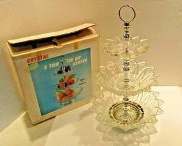 Vintage 3 Tier TidBit Glass Server by Scott Manufacturing  #1032 W/Box 1... - $44.99