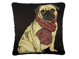 Lleno BONITO PERRO Carolino bufanda Tapestry Algodón Terciopelo Rojo Negro - £9.77 GBP