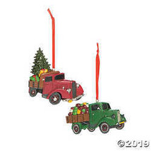 Vintage Truck Ornaments, Country Christmas Ornaments, Set of 12  - $24.99