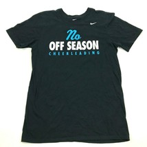 Nike No Off Season Cheerleading Shirt Size Small S Athletic Cut Adult Bl... - $18.99