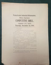 1904 NOV antique PENNSYLVANIA INDUSTRIAL REFORMATORY MILITARY DRILL CO A... - $64.95