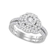 14k White Gold Diamond Round Bridal Wedding Engagement Ring Band Set 5/8 Ctw - $1,399.00