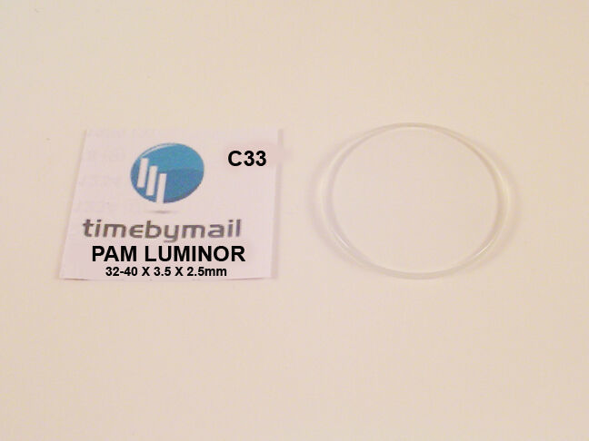 Primary image for New Watch Glass Crystal For PANERAI LUMINOR 32mm-40mm Replacement Non Date C33