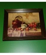 Robert Chailloux Hardback Print, Still Life Strawberries Framed # P213 - $19.79