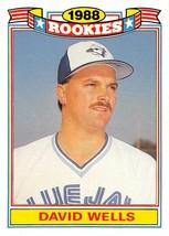 1989 Topps Glossy Rookies #22 David Wells RC Rookie Card > Toronto Blue ... - $0.99