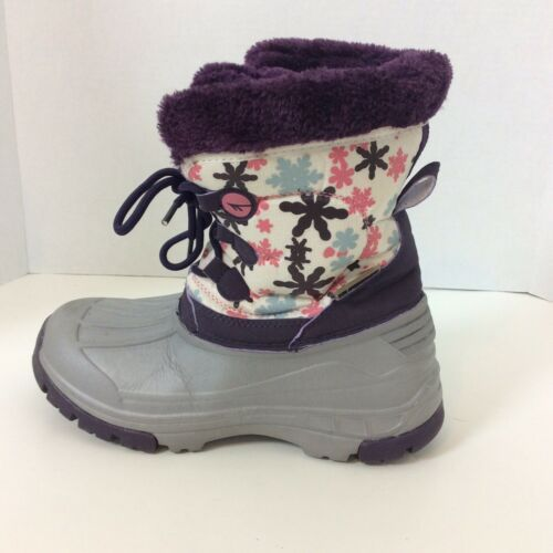 Primary image for Kamik Snow Rubber Waterproof Insulated Boots Purple Floral Womens Size 5 EUR 37