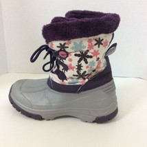 Kamik Snow Rubber Waterproof Insulated Boots Purple Floral Womens Size 5... - $23.36