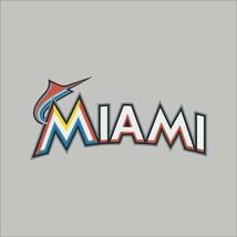 Miami Marlins #4 MLB Team Logo Vinyl Decal Sticker Car Window Wall Cornhole - $4.40+
