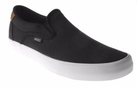 WeSC Men's Black Luiz Canvas Slip On Fashion Sneaker Skate Shoes B205927999 NIB
