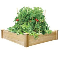 4ft x 4ft Outdoor Cedar Wood Raised Garden Bed Planter Box - Made in USA - $175.44